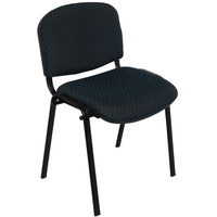 Nova Fabric 4 Leg Visitor Chair With Linking Feature Charcoal