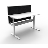Paramount Single Sided Electric Height Adjustable Workstation with Screen