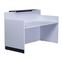 Rapid Span Reception Counter Natural White 1800mm W x 800mm D