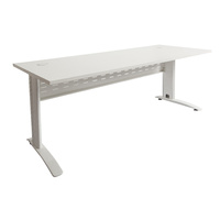 Rapid Span Desk 1200W X 700D - White Top White Leg