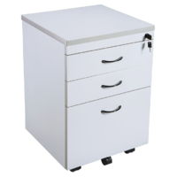 Rapid Vibe Mobile Pedestal 3 Drawer ( 2 Pen + 1 File ) Grey