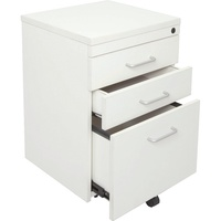 Rapid Vibe Mobile Pedestal 3 Drawer (2 Pen + 1 File) White