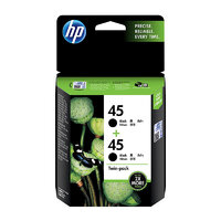 Hp 45 Black Ink Twin Pack