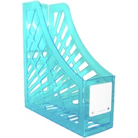 Italplast Neon Magazine Holder Neon Blue