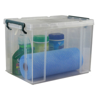 Italplast 20L Stacka Storage - Box With Lid 20L, Clear