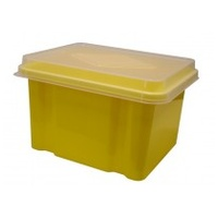 Italplast Storage Box - 32Ltr Banana Clr Lid (With Suspension File Runners)