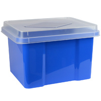 Italplast Storage Box - 32Ltr Blueberry Clr Lid (With Suspension File Runners)