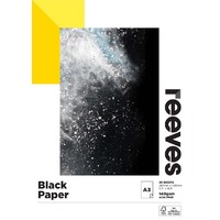 Reeves Sketch Pad A3 140gsm Black Paper 20 Sheet FSC