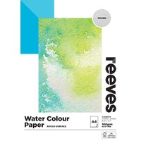 Reeves Water Colour Paper Pad Rough A4 300gsm 12 Sheet FSC