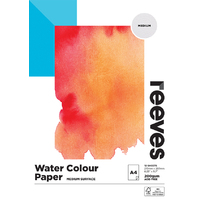 Reeves Water Colour Paper Pad A4 200gsm 12 Sheet FSC