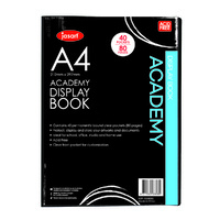 Jasart Academy Display Book A4 40 Pages Black
