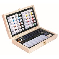 Jasart Acrylic Wooden Box Set 20pc