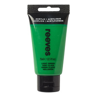 Reeves Acrylic Paint Light Green 75ml
