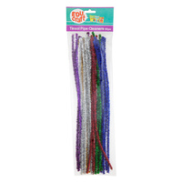 Educraft Pipe Cleaners Pk30 Tinsel Assorted