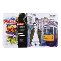 Jasart Colour Pencils Design Tin Pk36