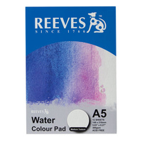 Reeves Water Colour Painting Pad A5 Medium Texture 12 Sheet