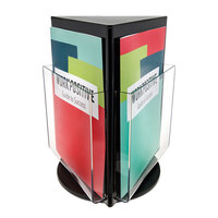 Deflecto A4 Counter Top Rotating Black Brochure Holder