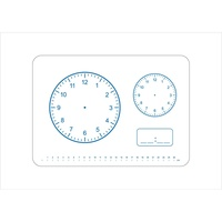 Jpm Educational Whiteboard - A4 Clock 299X212X3mm