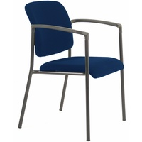Buro Ceti Visitor Chair 4 Leg Navy Fabric