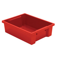 Kids Smart Storage Tub Small Fire Engine Red