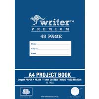 Writer Premium A4 Project Book 48 Page Plain/14mm Dotted Thirds and Margin Balloons