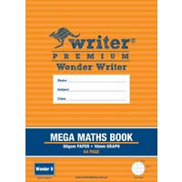 Wonder Writer Mega Maths Book 64 Page 10mm Graph ruled