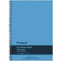 Protext A4 200 Page Twin Wire PP Notebook Blue