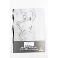 Protext Poly Visual Art Diary A4 120 page 110gsm White Cartridge