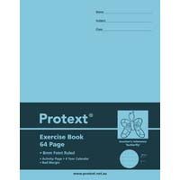 Protext Exercise Book 64 Page 225X175mm PP Cover 8mm Ruled With Red Margin Butterfly