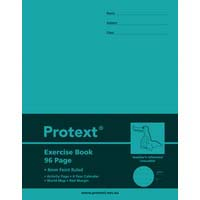 Protext Exercise Book 96 Page 225X175mm PP Cover 8mm Ruled With Red Margin Crocodile