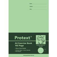 Protext Exercise Book A4 192 Page PP Cover 8mm Ruled With Red Margin Monkey