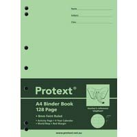 Protext Binder Book A4 128 Page PP Cover 8mm Ruled With Red Margin Elephant