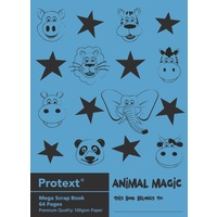 Protext Scrap Book 64 Page 330mm X 240mm Animal Magic