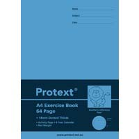 Protext Exercise Book A4 64 Page 14mm Dotted Thirds Lion