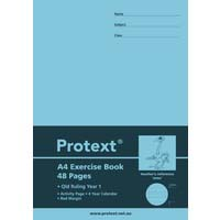 Protext A4 48 Page Exercise Book QLD Ruled Year 1 and Margin Emu