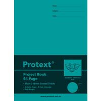 Protext Poly Project Book Plain 18mm Dotted Thirds 64 Page Bat
