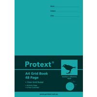 Protext Poly Grid Book A4 48 Page 7mm Grid Bird