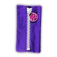 Protext Character Pencil Case Purple Ladybird
