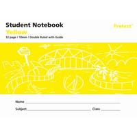 Protext Student Note Book Yellow 32 page Double Ruled 10mm/ Guide