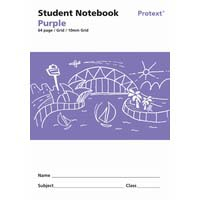 Protext Student Note Book Purple 64 page Grid 10mm