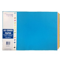 Writer Cover Paper A3 125gsm 15 Colours Assorted