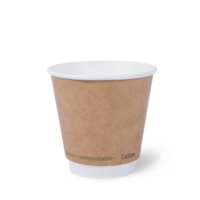 I am eco™ Double Wall 8oz Cup Brown Carton of 500