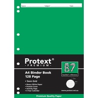 Protext Premium A4 Grid Binder Book 5mm Grid 128 Page B7