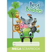 Writer Best Buddies Mega Scrap Book 64 Page 100gsm 330x240mm