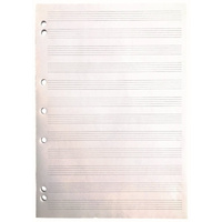 Writer Music Pad 50 Leaf 7 Holes Side Glued 70gsm