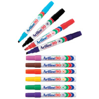 Artline 90 Permanent Marker Medium Chisel Assorted