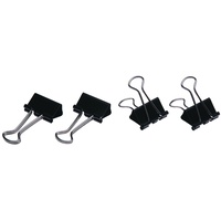 Esselte Fold Back Double Clips No 1 19mm Black Silver Bx12