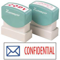 X-Stamper 2 Colour With Icon 2034 Confidential