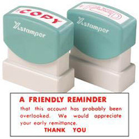 X-Stamper 1 Colour Oversize 3221 A Friendly Reminder Red