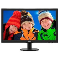 PHILIPS 273V5LHAB 27IN LED MONITOR - 1920x1080 (16:9), HDMI/VGA, SPEAKERS, VESA 100MM, 3 YEARS - Black
